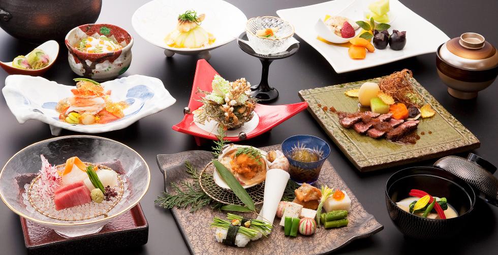 銀座の個室で会席/懐石料理の結中條(懐石コースの一例写真)
