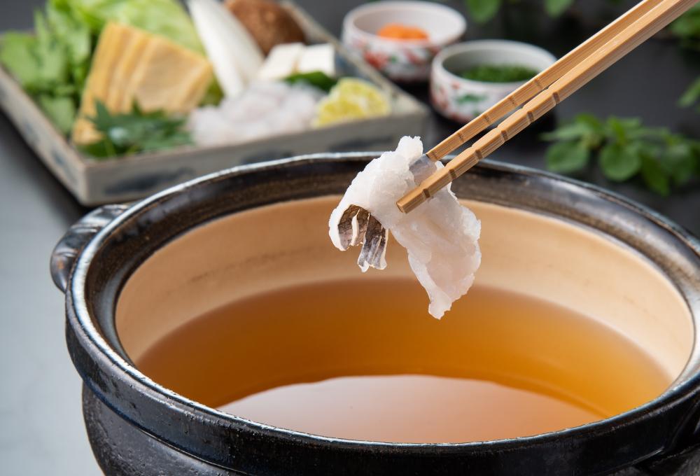 【鍋物】天草黄金鱧のしゃぶしゃぶ・【ご飯物】鱧雑炊